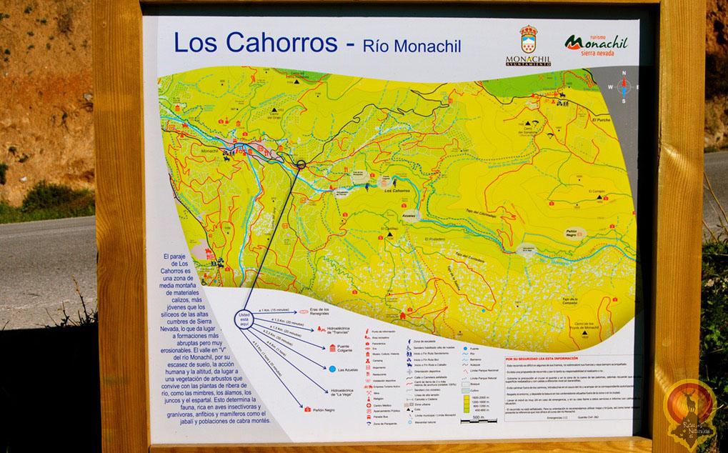 Los Cahorros Monachil Mapa.Los Cahorros De Monachil De Rutas Por La Naturaleza